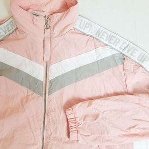 *NEW!* Light pink zip up windbreaker jacket